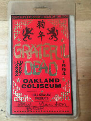 Grateful Dead Backstage Pass - 2241994 Oakland CA - Gung Hay Fat Choy
