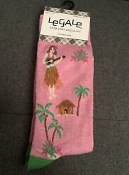 Legale Mens Socks. 1 Pair. Size 8 12. Hawaii theme $3.00