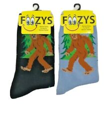 New FOOZYS BRAND Ladies BIG FOOT SASQUATCH Novelty Socks Size 4 10 CHOOSE COLOR $4.99