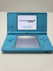 Nintendo DSi Teal Blue Handheld System Bundle With Need for Speed 4GB SD Tested! $34.95