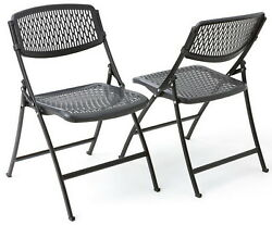 Black Folding Chairs Fold Up Ventilated Plastic Seat 4 or 40 pack Mity Lite Flex $125.68