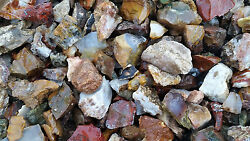 3 POUNDS of TUMBLING ROUGH Includes: Mixed Agate#x27;s Jasper#x27;s $13.75