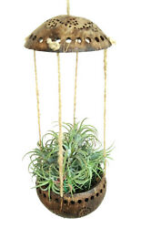 Coconut Shell Pot Planter Hanging Orchid Flower Basket Parrot Play Balcony Decor $19.90