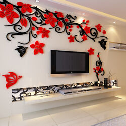 3D Family Flower Wall Stickers Large Acrylic Removable Mural Living Room Decals $32.29