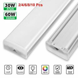 60cm 120cm 4FT LED Shop Light Garage Fixture Ceiling Lamp LED Batten Tube Light $16.83