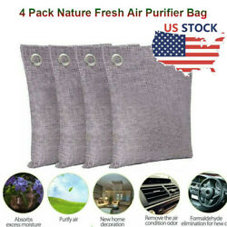 4 Pack Nature Fresh Air Purifier Bag Charcoal Bamboo Purifying Mold Odor US $14.89