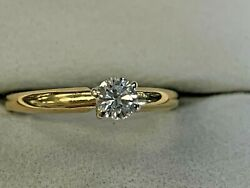 MAGIC GLO 14K YELLOW GOLD ESTATE DIAMOND LADIES ENGAGEMENT RING $325.00
