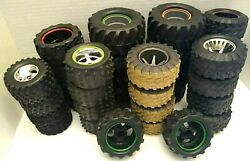 Huge Lot of RC Replacement Tires Wheels Rims Baja NEW BRIGHT Different sizes $54.00