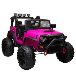 12V kids Ride On Truck Battery Powered Electric Car w Remote Control LED Light $245.99