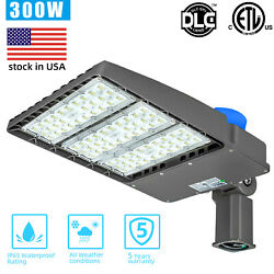 300W LED Shoebox Light Outdoor Commercial Flood Industrial Parking Lot Pole Lamp