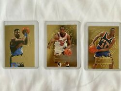 Lot of 3 Gold Medallion Edition Basketball Cards $15.00