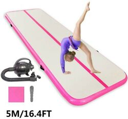 16FT Inflatable Floor Home Gymnastics Tumbling Mat GYM With Pump Gift New $169.00