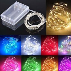 20 50 100 LED Battery Micro Rice Wire Copper Fairy String Lights Party white rgb $4.69