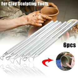 6 Pcs Clay Sculpting Wax Carving Pottery Tools Polymer Modeling Ceramic Sets $3.73