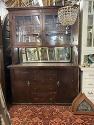 Old 1920s Arts And Crafts Craftsman Style Origin Built In Cabinet 61x86x19 $4200.00