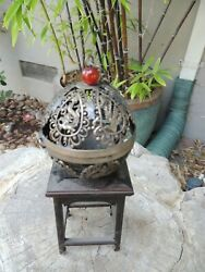 Antique Hanging Chinese Silver Incense Censer Ball Immortals $125.00