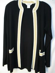 Worn Once dry cleaned...hanging in closet MISOOK Fit S 10 12 Black w Yellow $16.99