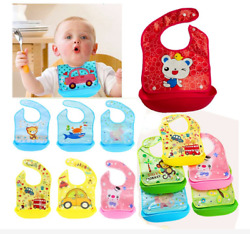 Unisex Baby Waterproof Aprons Silicone Bibs Infant Feeding Burp Cloths For Bib $3.28