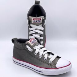 Converse Chuck Taylor All Star Kids Sneakers Gray 651818F Mid Top Lace Up 5 M $28.79