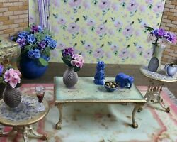 1:12 Dollhouse miniature classic side table pair and coffee table set $40.00