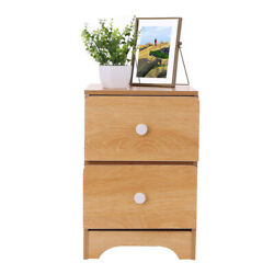 NEW Nightstand Bedside Table Shelf Bedroom Brown End Side Storage w 2 Drawer US $34.88