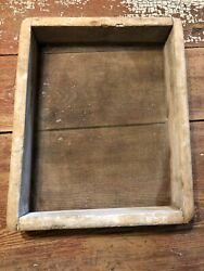 ANTIQUE VINTAGE VERY PRIMITIVE OLD WOODEN SIFTER SIEVE SCREEN $24.00