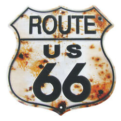 Rusty Highway Route 66 Tin Sign US Made Rustic Vintage Garage Bar Pub Wall Decor $17.98