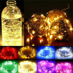20 30 50 LED Battery Micro Rice Wire Copper Fairy String Lights Party white rgb $9.50