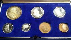SOUTH AFRICA 1969 7pc PROOF SET with silver 1 Rand TONED in presentation case $29.99