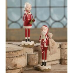 Bethany Lowe Retro Mr and Mrs Santa Claus Set of 2 Figures Michelle Lauritsen $49.95