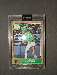 1987 Mark McGwire RC by Naturel Topps Project 2020 #60 Immediate Ship $48.50