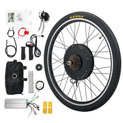 26quot; Electric Bicycle Rear Wheel 48V 1000W Ebike Hub Motor Conversion Kit $176.99