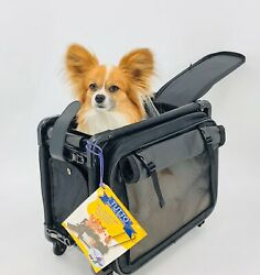 Tutto Small Pet On Wheels Stroller 16 inch Dog Cat Carrier Collapsible Carry On $75.00