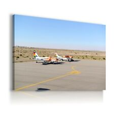 AIRCRAFT AIRPLANE SKY HELICOPTER PRINT CANVAS WALL ART PICTURE AR113 MATAGA GBP 16.99