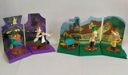 Phineas and Ferb Tomy Gacha Complete Set 5 Diorama Figures $27.38