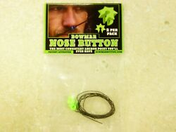 Bowmar Archery Nose Button Green 2 Pack NEW $14.95