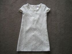 JUSTICE PARTY DRESS GIRLS 8 BEADED NECKLINE SHORT SLEEVE SPARKLY METALLIC LOOK $8.99