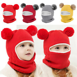Toddler Kids Girl Boy Baby Winter Warm Hat Scarf Beanie Knit Cap SKull Cover US $9.79