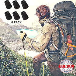 Replacement Rubber Tips For Hiking Poles Walking Trekking Trail End Caps Stick $7.99