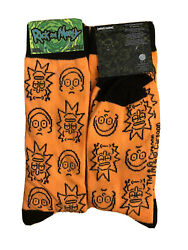New Rick And Morty Mens HALLOWEEN Novelty Crew Socks Size 6 12 HYP Brand $5.99