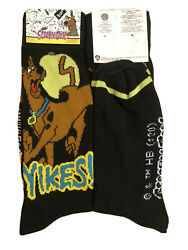 New SCOOBY DOO Mens Novelty Crew Socks WARNER BROS. Says 'YIKES' Shoe Size 6 12 $5.99