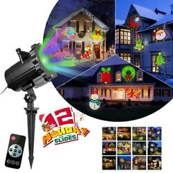 CHRISTMAS LED HOLIDAY PROJECTOR SANTA SNOW SKELETON PUMPKIN STEADY FADING US