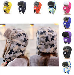Unisex Hunting Hat Ear Winter Warm Cotton Fur Soft Bomber Trapper Cycling Cap $11.99