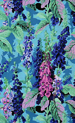HALF YARD Westminster Kaffe Philip Jacobs Fox Gloves Cool $42.72