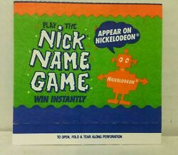 Nickelodeon Play The Nick Name Game Card Mint $7.95