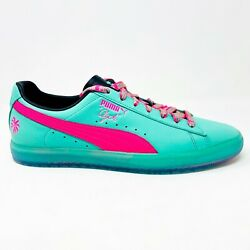 Puma Clyde South Beach Miami Palm Tree Teal Green Pink Mens Sneakers 368542 01 $79.95