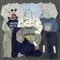 NEW 12 Pc Baby Boys 9 Months Clothes Lot Pants Tops Outfits Jumping Beans Disney $34.99