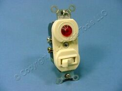 Leviton Ivory RETRO Commercial Switch w Pilot Light 20A 5336 I
