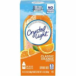 Crystal Light Classic Orange Drink Mix 60 On the Go Packets 6 Packs of 10 $21.39