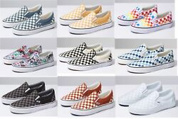 Vans CLASSIC SLIP ON Checkerboard Canvas Sneaker Shoes All Size NEW IN BOX $56.95